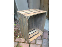 12 wooden apple crates