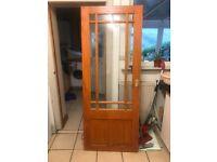 Internal door with glass panelling