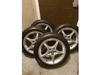 Toyota alloy wheels with tyres 205/50/16