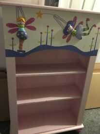 Girls fairy book shelf