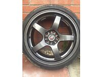 Lenso d1 alloy wheels just refurbished with new tyres