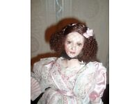 Beautiful Collectors Porcelain Doll - By Franklin Mint