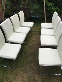 8 solid chairs, dinning, Xmas parties, reception etc