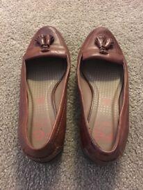 M&S Ladies brown shoes size 5 1/2