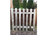 Wooden garden gate