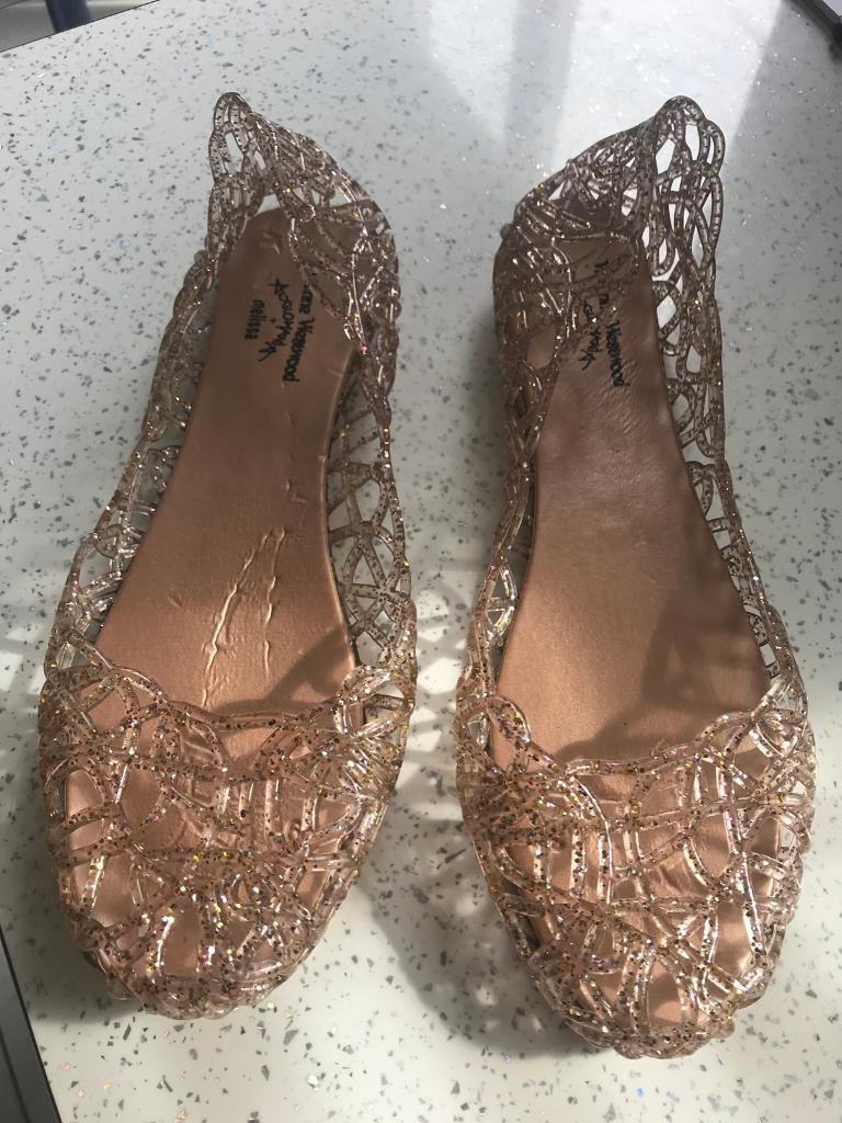 c54efc808525 Vivienne Westwood gold sparkly shoes size 6 NEW!!!
