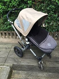 Bugaboo Cameleon Sand, Black pushchair PLEASE READ!!! with accessories