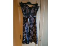 Black and silver floral dress. Size 10
