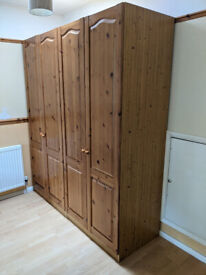 Pine wardrobe (2 pieces)