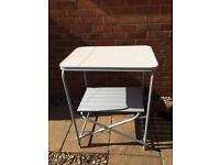 Camping kitchen stand with shelf (2available) like new