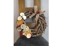 Christmas wreaths also I do dried fruit Christmas tree decorations