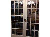 Pair of glazed doors