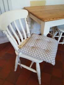 Pine Kitchen table, Chairs & Stools