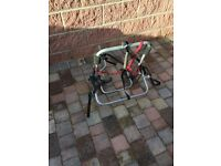 Spare wheel mounted bike carrier
