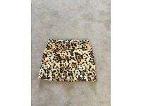 Topshop petite leopard print size 12 skirt