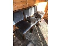 Four old dining chairs (can deliver)