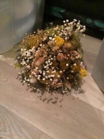 Bridal bouquet and flower girl bouquet