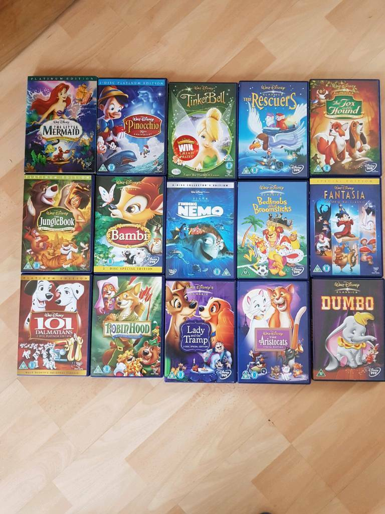 Disney dvd collection(15 films)