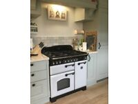 Range master 90cm classic deluxe dual fuel range cooker with double oven and separate grill