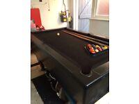 Pub style full size pool table
