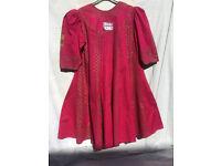 Ladys Salwar suit 3 piece new cotton dark pink,free size,18,110cm bust,103 long.