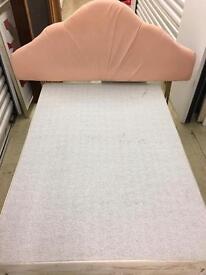 Double Divan Bed with Storage & Headboard.