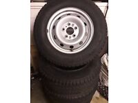 A set of 5 Wheels and Tyres Plus Trims, 118, 5 stud, Fiat Ducato, Nearly New