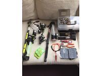 Fishing rods x2, reels and tackle