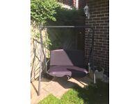 Black garden swing, 2 seater