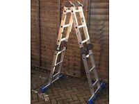 Multi-function Aluminium foldable ladder