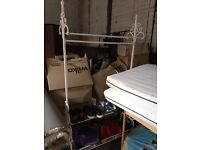 Gorgeous white iron clothes rail