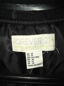 Black forever 21 plus bomber jacket