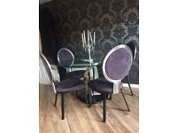 Glass Dining Table x 4 chairs cost £1000