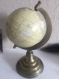 Retro world globe
