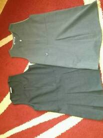 Girls school dresses and blue cardigan size 4-5, 5-6 and 6-7