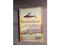 Resolution, Captain Cook's Second Voyage of Discovery. Hard Back book by Peter Aughton