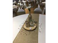 Wedding table centre pieces