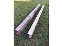 Two Steel Beams - 74 inch long