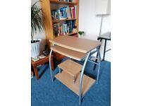 Desk With Sliding Keyboard Shelf Under