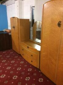 Retro vintage bedroom furniture set