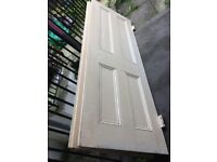 TWO LARGE SOLID WOOD DOORS FROM VICTORIAN HOUSE