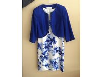 Mother of the Bride, Jacques Vert dress and bolero jacket size 12.