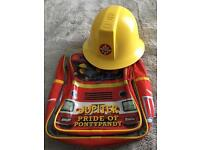 Fireman Sam Helmet & Backpack