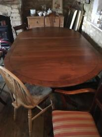 Lovely old D end dining table