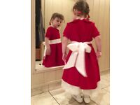 Made in London red dress for little girl (choose size 1, 2, 3, 4, 5 years old)