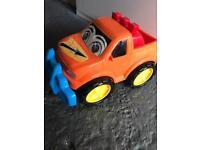 Kid plastic push along toy car