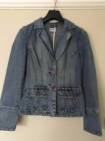 Moto Denim Jacket Women's Size 10
