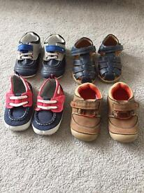 4 pairs of boys shoes/size 4-5/1-2years old
