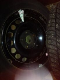 Snow tyres on steel wheels for Vauxhall Astra or Vectra