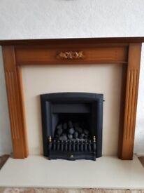 Nearly new fire and surround